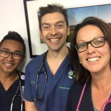 Arthit Barnes, Nurse Practitioner; Michael Browne, Clinical Nurse Educator/ Nurse Practitioner; Leahanna Stevens, Nurse Practitioner