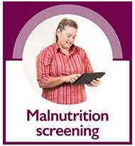 Malnutrition screening button