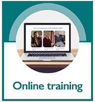 Online training button