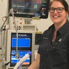 Meredith Eberle in ICU