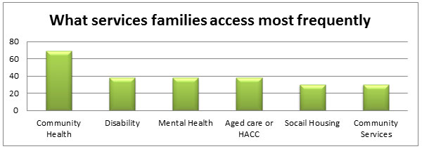 Graph 3 - What services families access most frequently