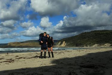 Tom and Naj Anderson on the south coast