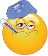 emoji icon looking unwell